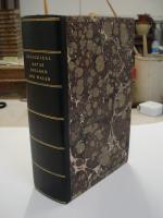 Double slipcase, leather spine, hand marbled sides.