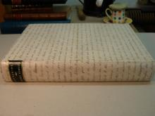 Case binding, vellum manuscript deed, with a leather label.